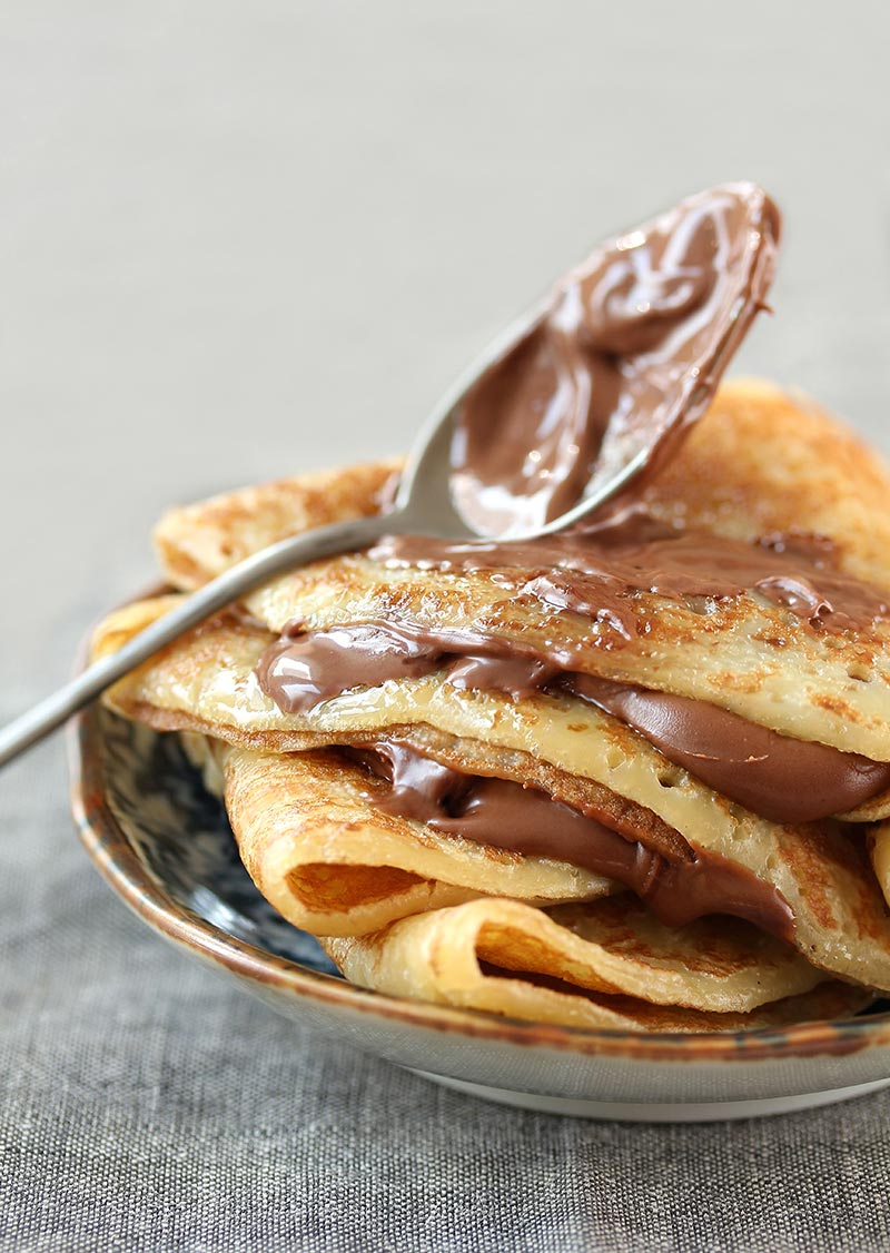 ricetta crepes al cioccolato