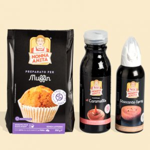 Kit per Muffin al caramello e noci