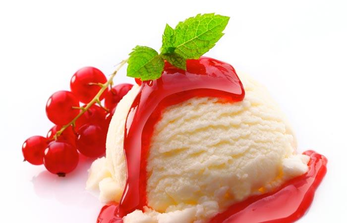 gelato crema frutti di bosco