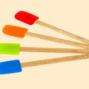 Spatole colorate in silicone, Nonna Anita