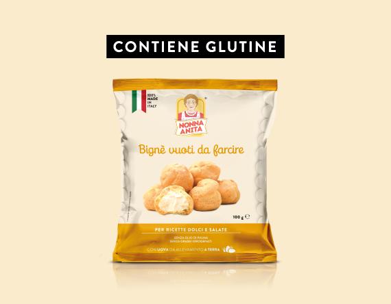Bignè vuoti da farcire con glutine