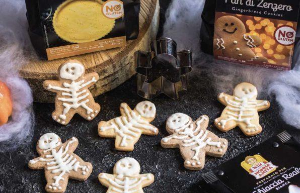 Biscotti a forma di scheletro per Halloween, Nonna Anita