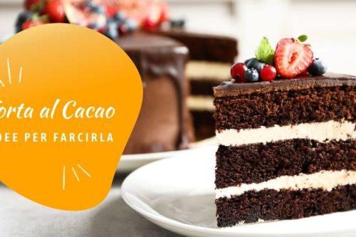 Torta al cacao farcita di crema chantilly