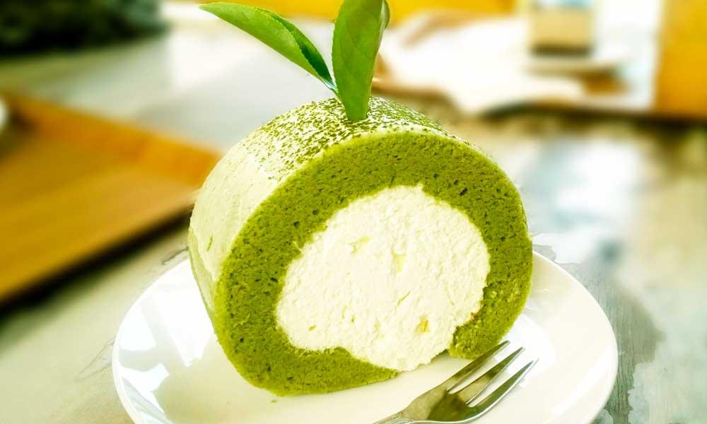 Cake Roll al tè matcha