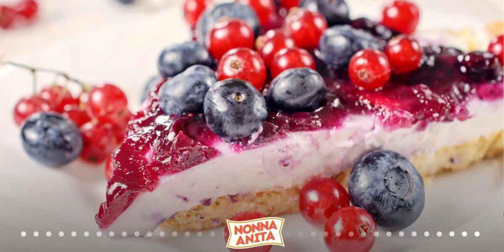 Crostata con panna cotta ai frutti di bosco, Nonna Anita