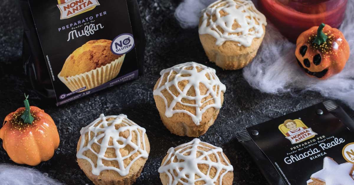 Cupcake con decorazione a ragnatela, Nonna Anita