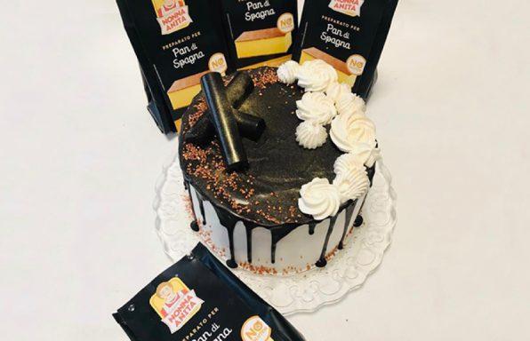 Torta Drip Cake e pack prodotti, Nonna Anita